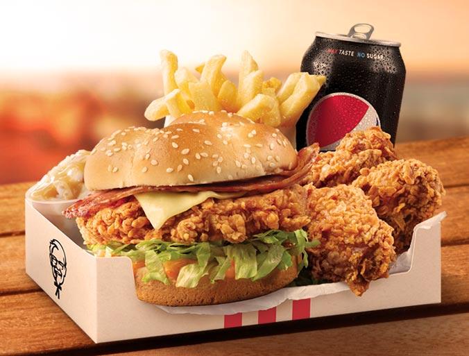 KFC Zinger Bacon & Cheese Burger Box