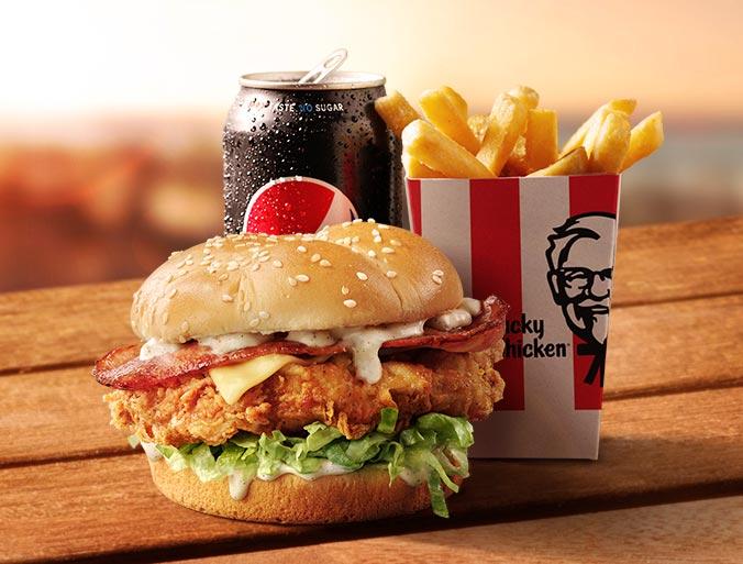 KFC Original Bacon & Cheese Burger Combo