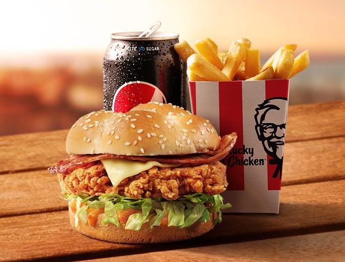 KFC Zinger Bacon & Cheese Burger Combo