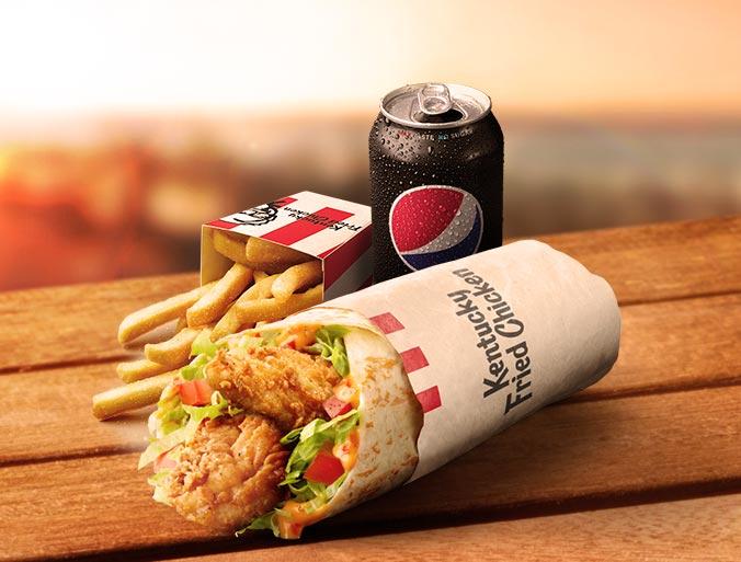 KFC Original Supercharged Twister Combo
